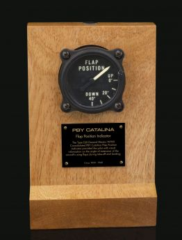 PBY CATALINA GENERAL ELECTRIC TYPE DJII FLAP POSITION INDICATOR