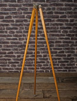 VINTAGE TIMBER TAPERED LEG TRIPOD