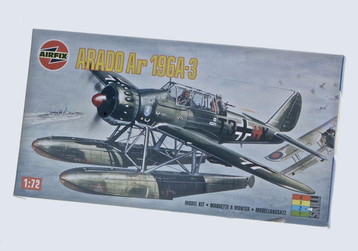 ARADO AR 196A-3 WWII FLOAT PLANE - AIRFIX 1/72 scale
