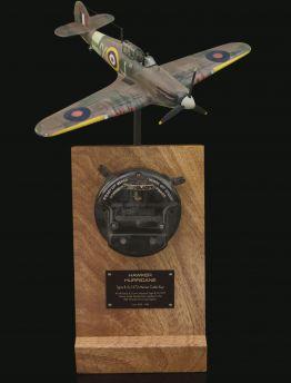 HAWKER HURRICANE TYPE B, 5c/373 AIR MINISTRY & CROWN STAMPED MORSE CODE SENDER KEY
