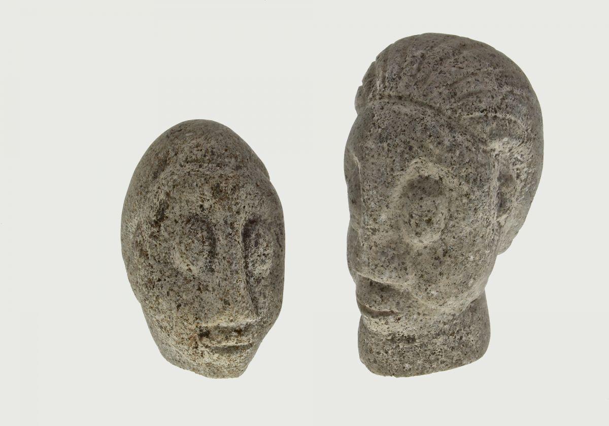 AMBRYN ISLAND (VANUATU) MINIATURE CARVED GRANITE HEADS