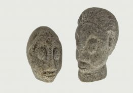 AMBRYN ISLAND (VANUATU) MINIATURE CARVED GRANITE HEADS