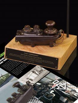 CAC WIRRAWAY 'BATHTUB' MORSE CODE SENDER KEY
