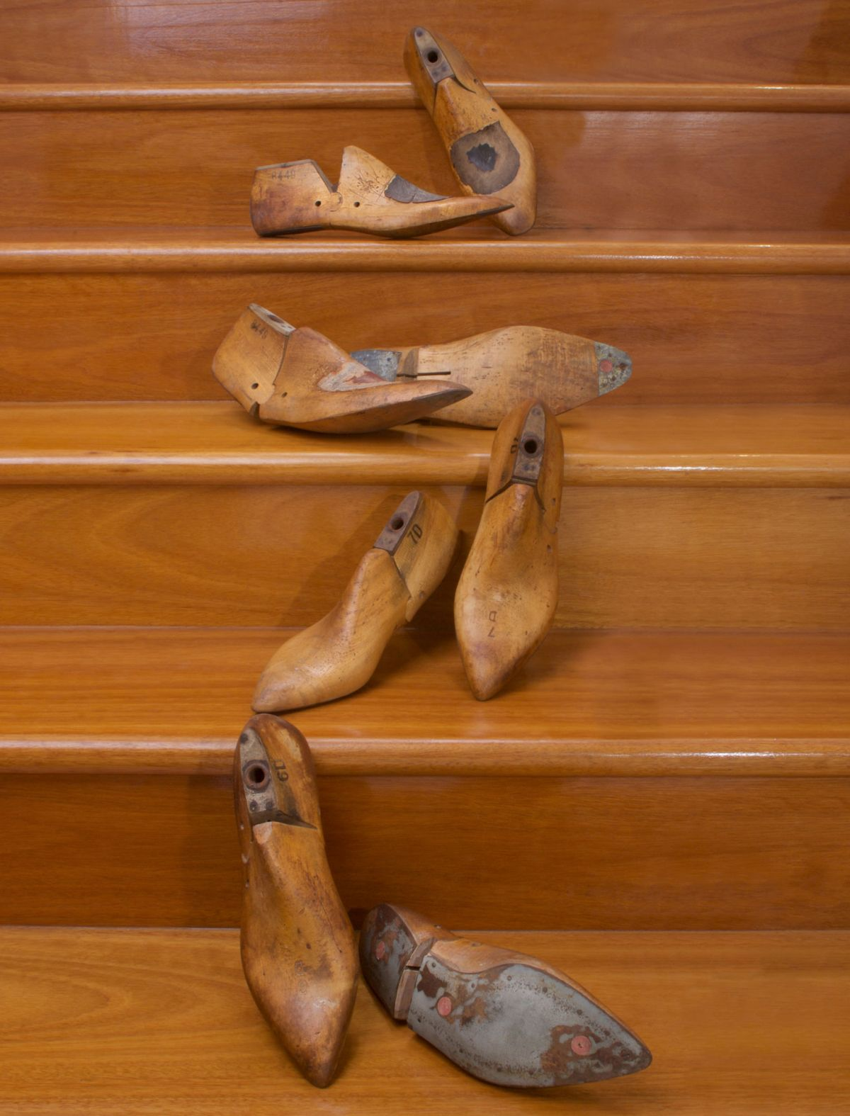BEAUTIFUL PAIRS OF VINTAGE HAND-CRAFTED, BESPOKE WOODEN SHOE LASTS