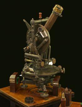 COMPLEX GERMAN HILDEBRAND & FRIEBERG DOUBLE TELESCOPE TRANSIT THEODOLITE C. 1900