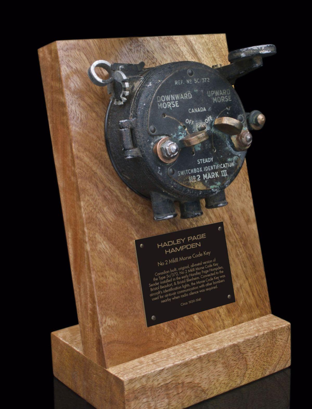 HANDLEY PAGE HAMPDEN Mk1A-V, 5c/372 No.2 Mk III MORSE CODE KEY