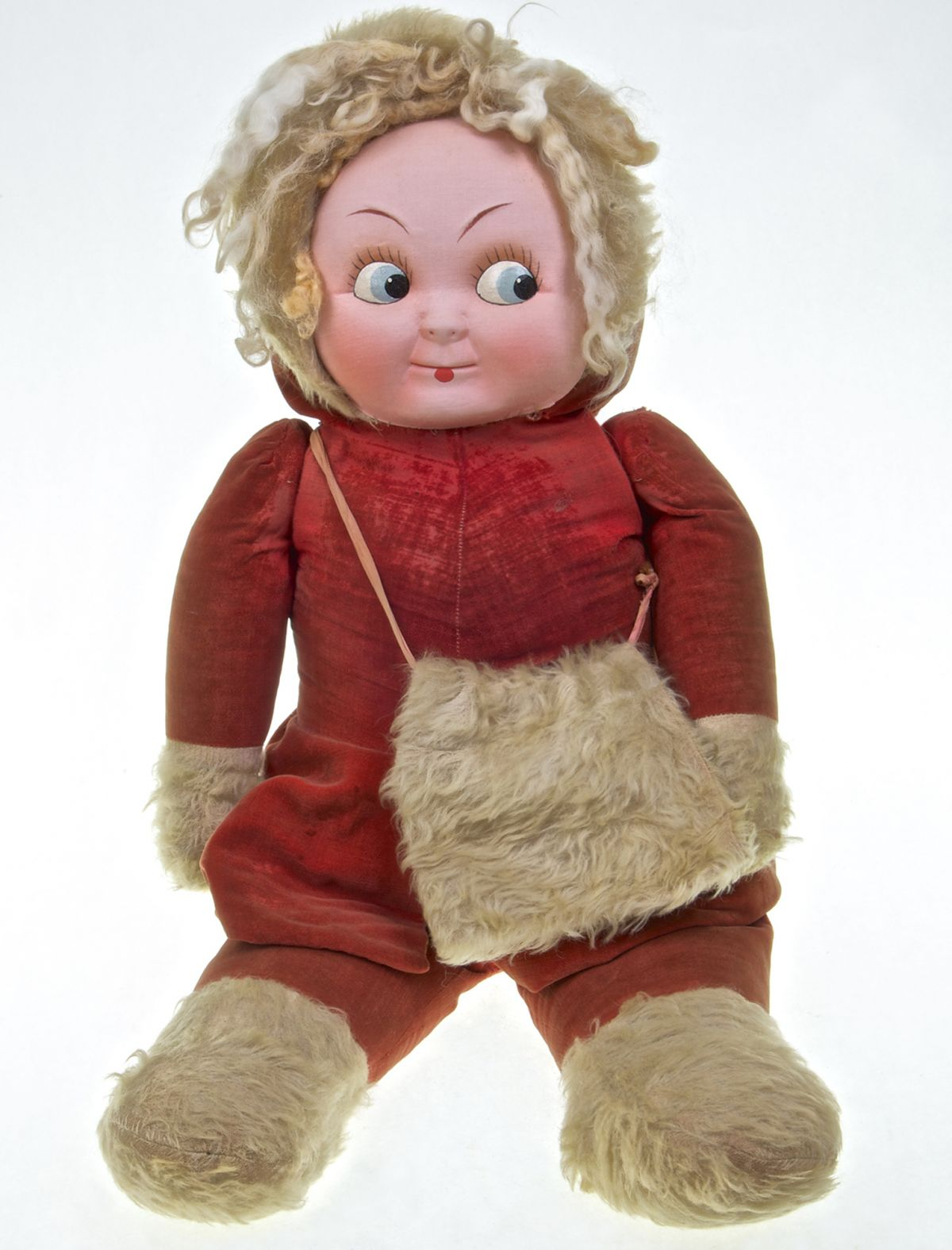Vintage Stuffed Kewpie Doll