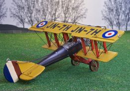 Curtis Jenny hand-crafted tin/metal retro-style biplane - 45cm wingspan
