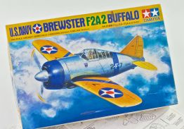 US NAVY F2A2 BREWSTER BUFFALO FIGHTER 1/48 scale Tamiya Model Kit