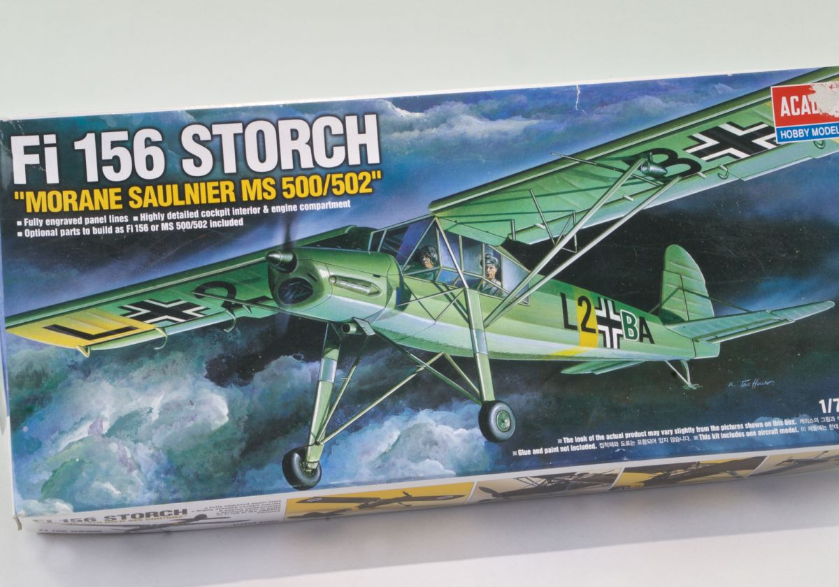 FI 156 STORCH 1/72 scale WWII short take-off and landing (STOL) Transport & Reconnaissance aircraft