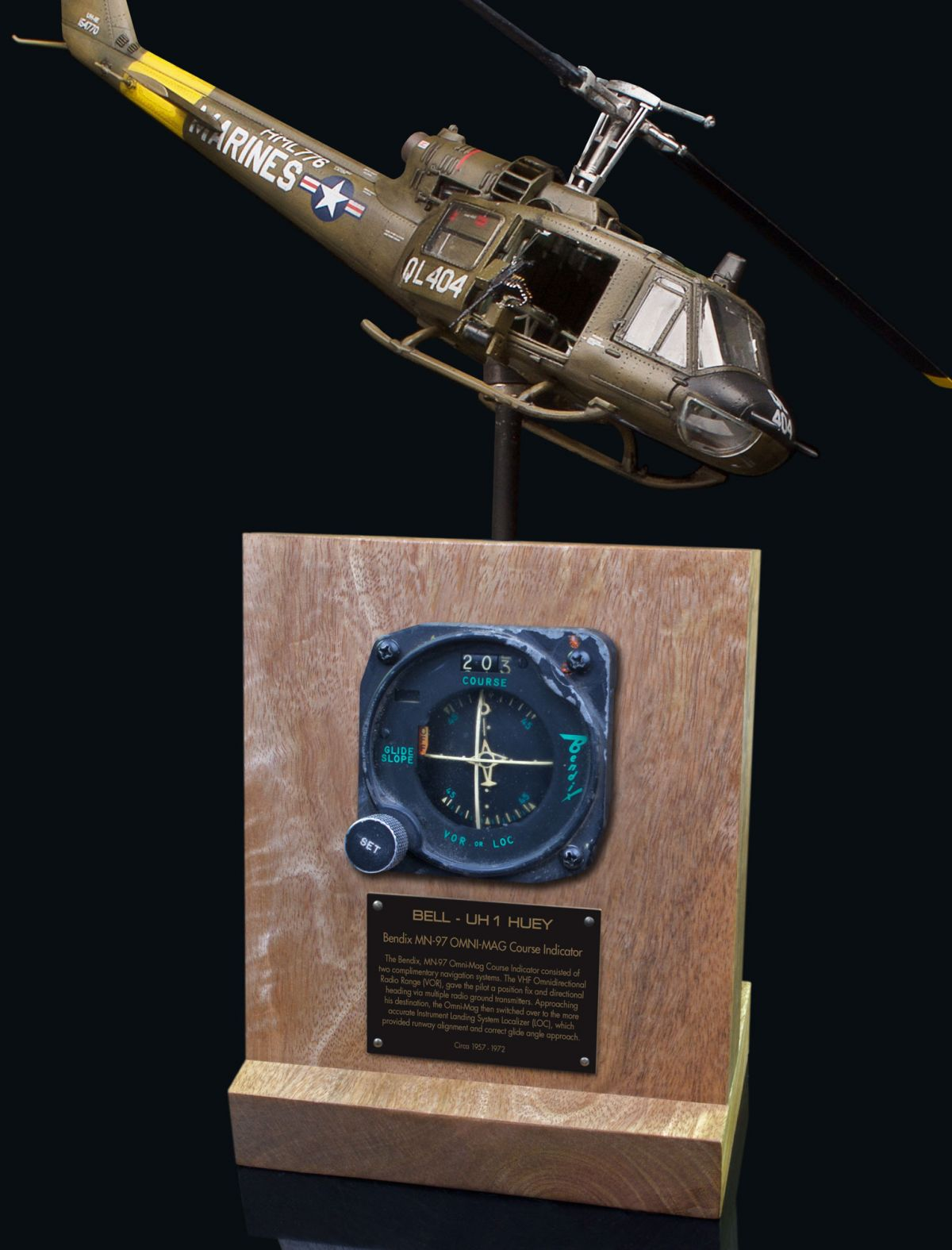 BELL HUEY UH-1 MN-97 OMNI-MAG COURSE INDICATOR