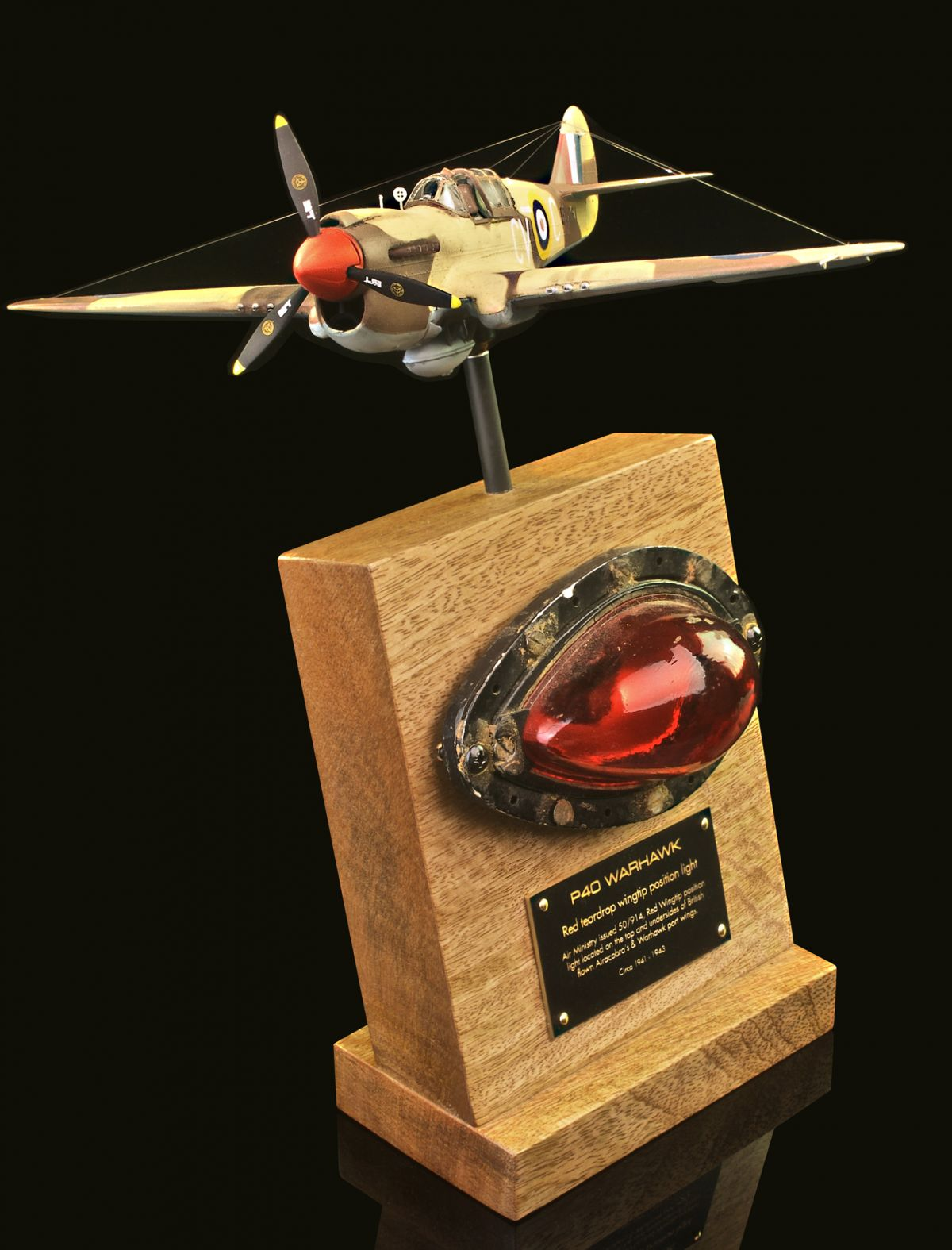 P-40 WARHAWK RED WINGTIP POSITION LIGHT