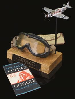 VINTAGE USAAF ORIGINAL B-8 POLAROID AVIATION GOGGLES