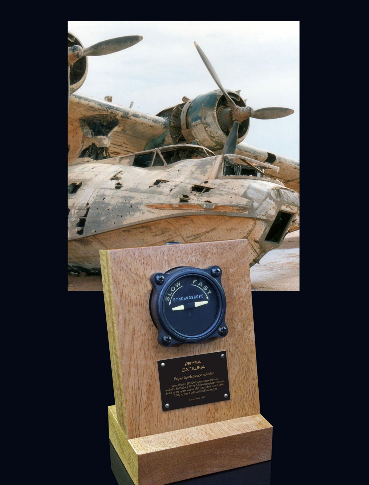 PBY CATALINA FLYING BOAT GENERAL ELECTRIC, SYNCHROSCOPE INDICATOR