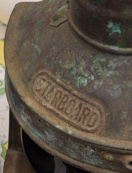 STARBOARD CHINESE COPPER & BRASS MARINE LANTERN