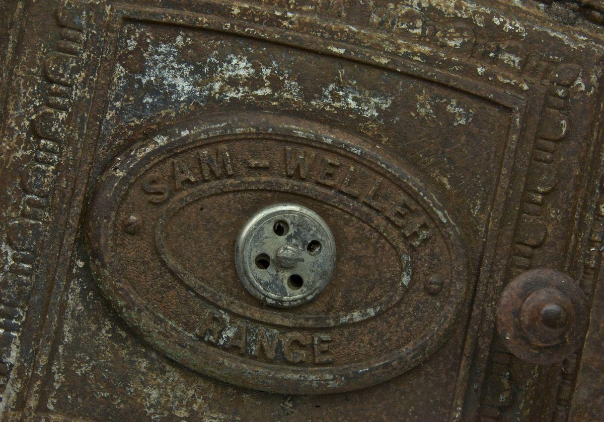 Large Cast Iron Vintage Cooker Door