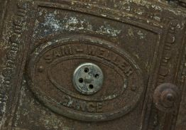 Large Cast Iron Vintage Cooker Door