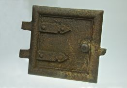 SMALL CAST IRON STOVE DOOR