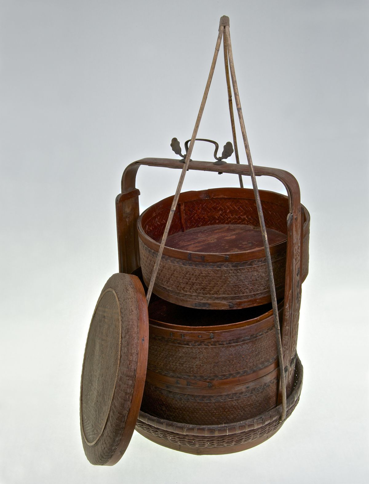 3 Tier Vintage Wooden Chinese Rice Steamer