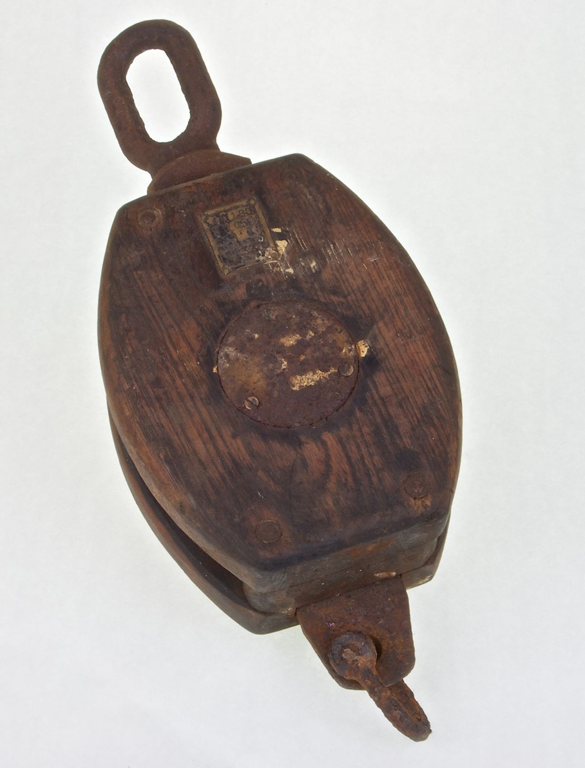 SINGLE WOODEN BLOCK PULLEY