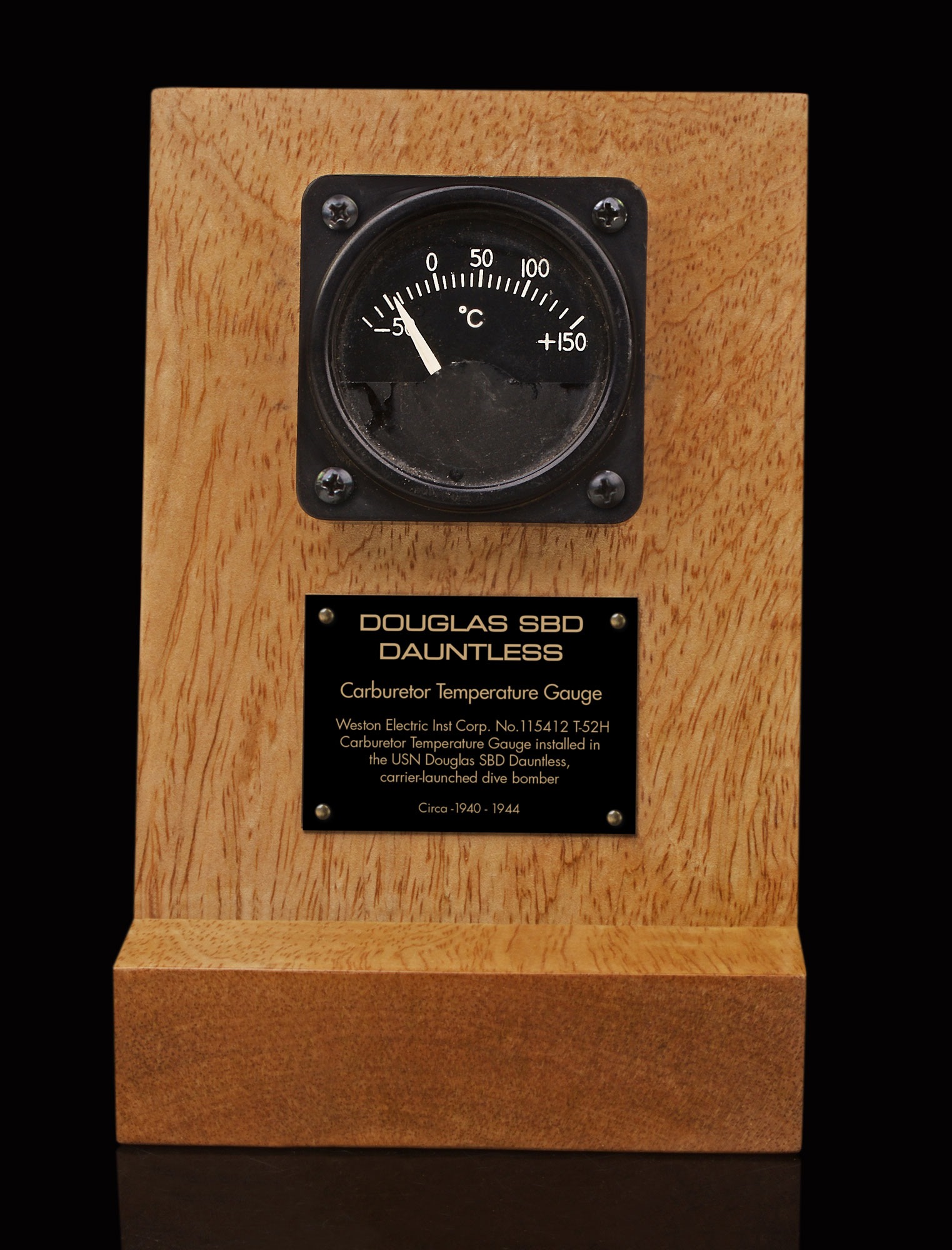 DOUGLAS SBD DAUNTLESS CARBURETOR TEMPERATURE GAUGE