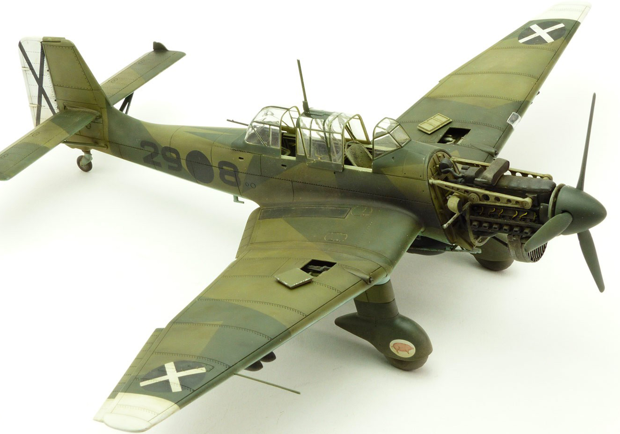 JUNKERS JU-87 B.R STUKA WWII DIVE BOMBER - AIRFIX 1/72 scale