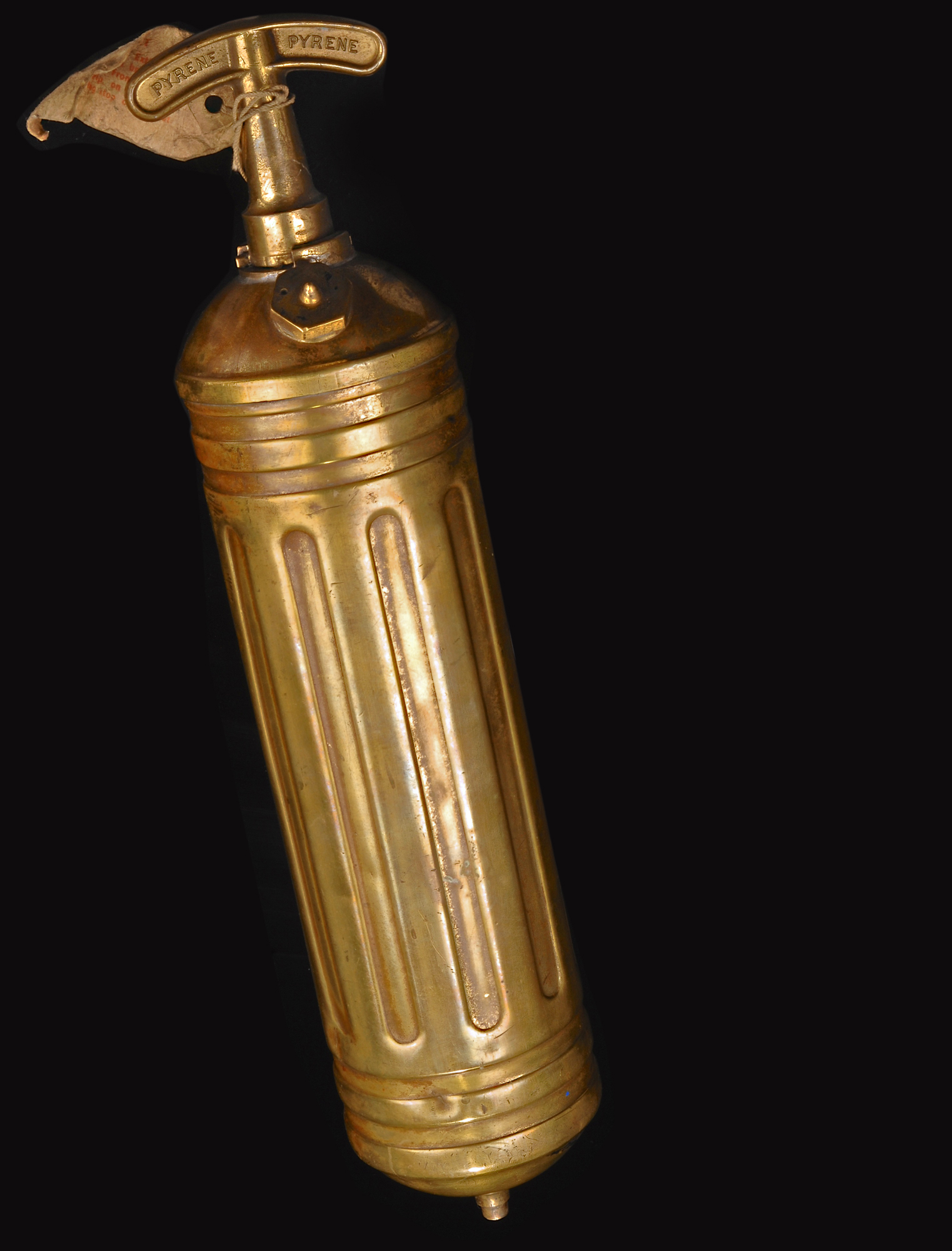 Vintage Brass Pyrene pump-action domestic fire extinguisher